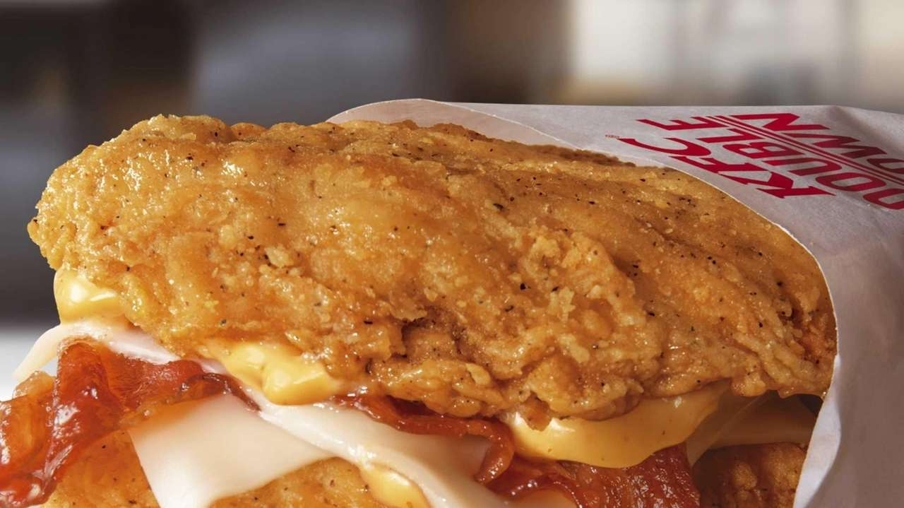 The Double Down -- bacon, Monterey Jack cheese
