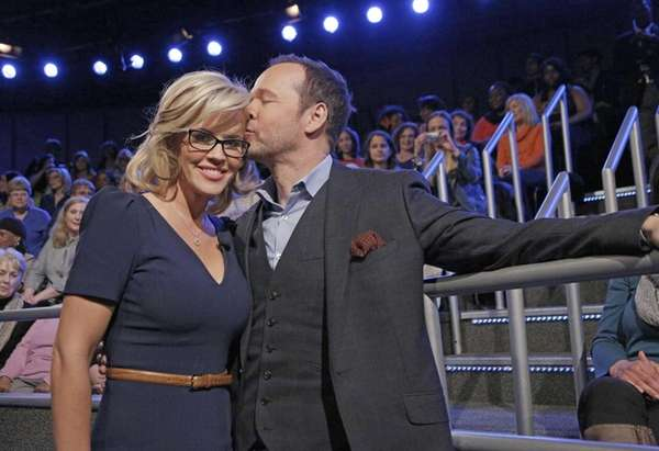 Jenny McCarthy with her fiancé Donnie Wahlberg after