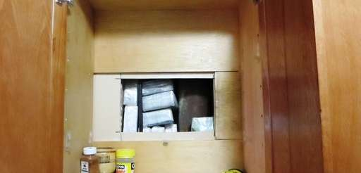 Hidden trap found in kitchen cabinet in drug