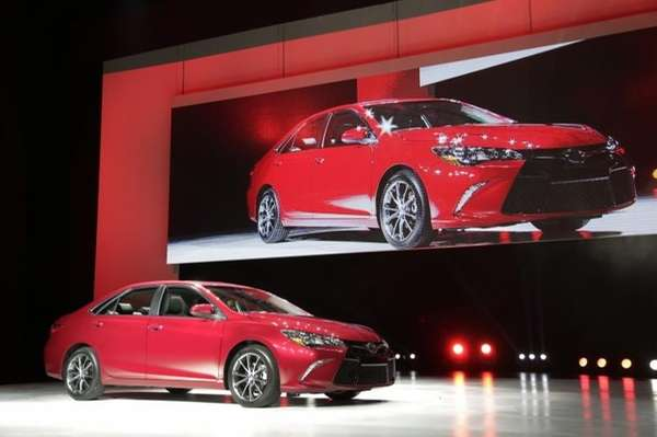 The 2015 Toyota Camry is introduced at the