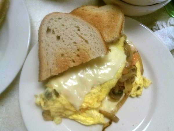 The western omelet at Winnie's Coffee Shop in
