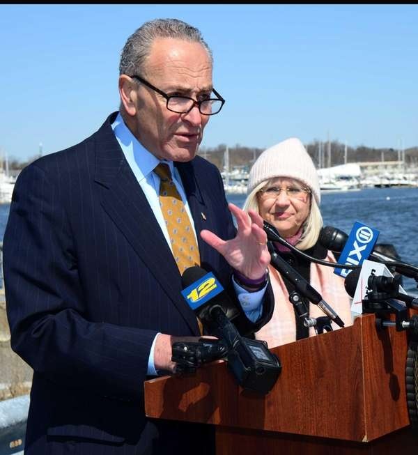United States Senator Chuck Schumer and Town of