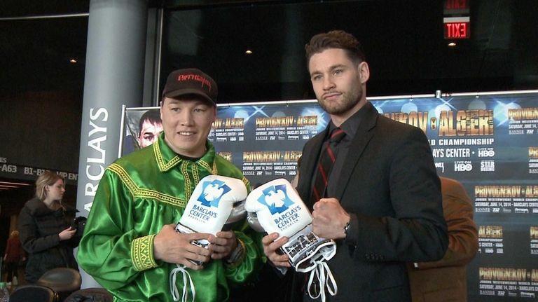 WBO junior welterweight champ Ruslan Provodnikov, left, will