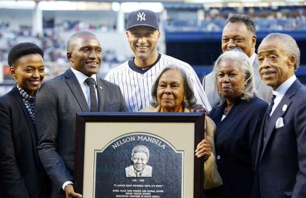 Derek Jeter of the Yankees poses for a