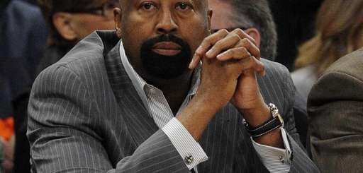 Knicks head coach Mike Woodson is seen on