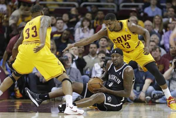 Cleveland Cavaliers' Alonzo Gee and Tristan Thompson loom