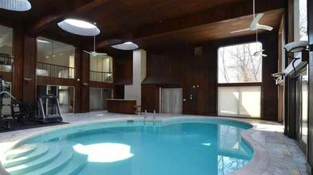 The pool at the Hewlett Bay Park home