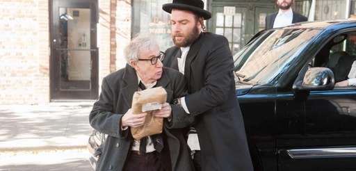 Woody Allen, left, and Liev Schreiber in a