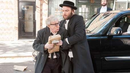 Woody Allen, left, and Liev Schreiber in a