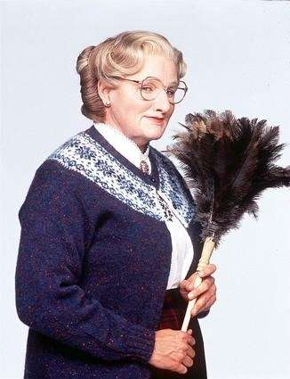 Robin Williams as Euphegenia Doubtfire in 1993's