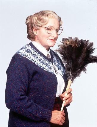 Robin Williams as Euphegenia Doubtfire in 1993's
