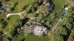 An aerial of Richard Gere's North Haven home.