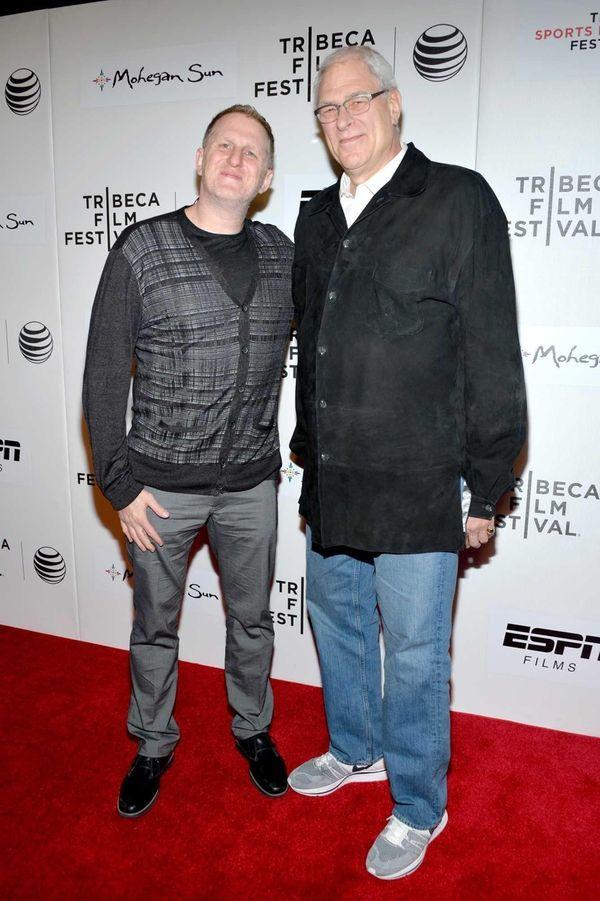 Director Michael Rapaport and Knicks president Phil Jackson