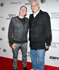 Director Michael Rapaport and Knicks president Phil Jackson