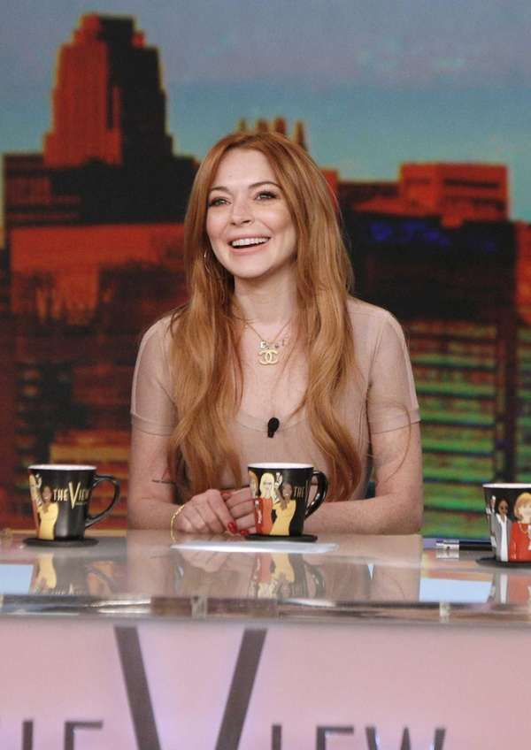 Lindsay Lohan as the guest co-host on ABC's