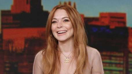 Lindsay Lohan as the guest co-host on ABC's