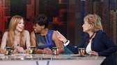 "Lindsay Lohan, left, guests on ABC's ""The View"""