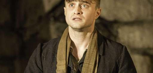 "Daniel Radcliffe performing in ""The Cripple of Inishmaan,"""
