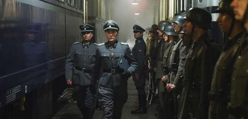 Burn Gorman as Colonel Skorzeny in a scene