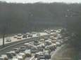A traffic camera shows traffic stopped on the