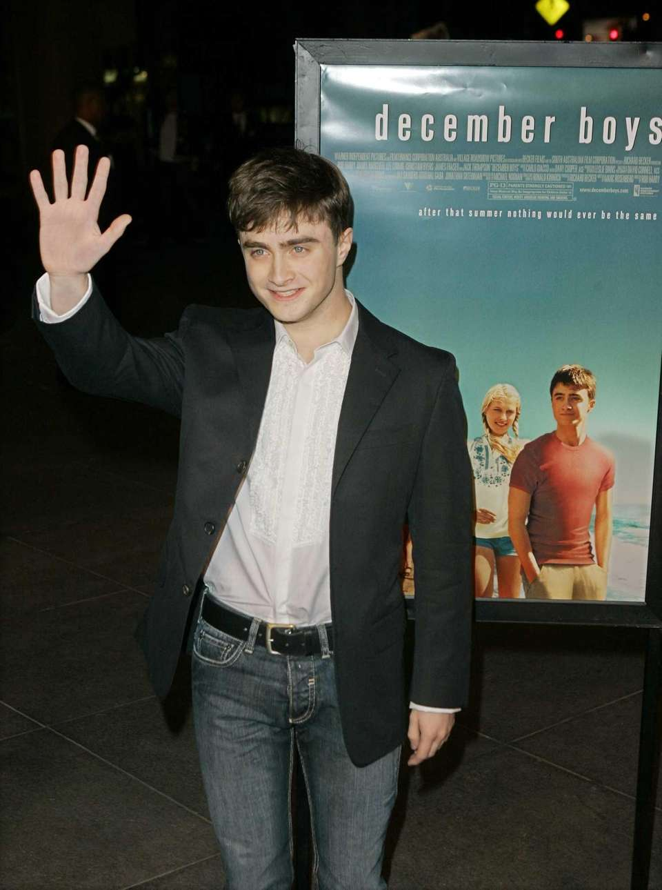 Actor Daniel Radcliffe arrives at a screening of