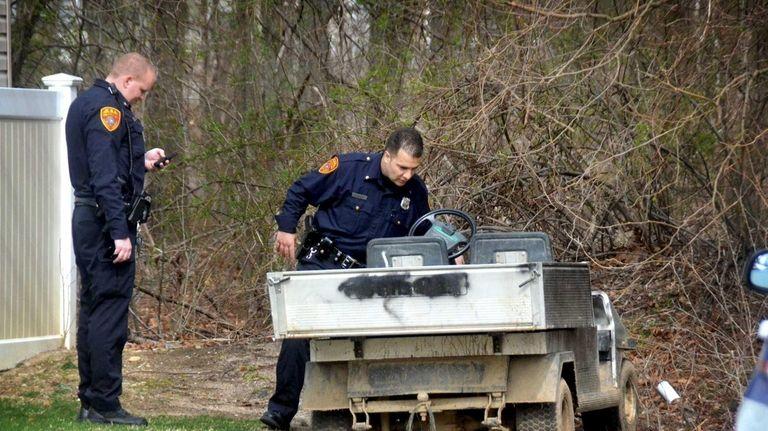 A golf cart stolen from a Centereach sports