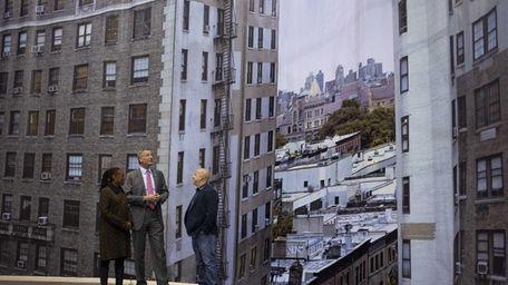 New York Mayor Bill de Blasio and first