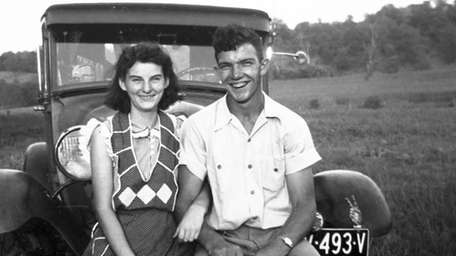 Kenneth and Helen Felumlee pose for a photo