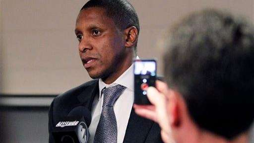 Toronto Raptors general manager Masai Ujiri, shown here