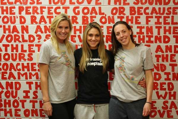 Fairfield soccer players Shannon Fay of Sayville, left,