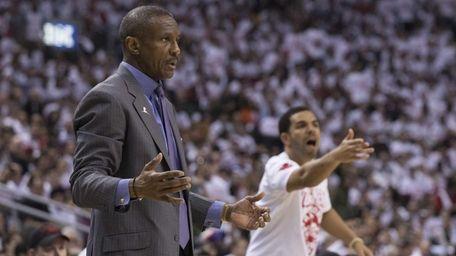 Toronto Raptors coach Dwane Casey and rapper Drake