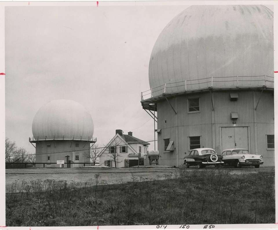 Domes of the Air Force radar station at