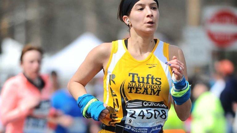 New Yorker Renee Pompei-Reynolds runs in the 2013