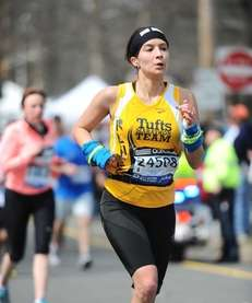 New Yorker Renee Pompei-Reynolds runs in the 2013