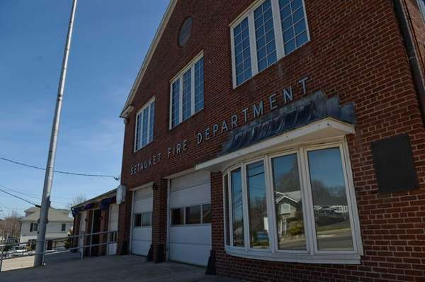 The Setauket firehouse, shown on Thursday, April 17,