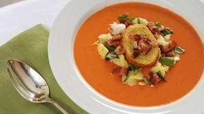 The BLT tomato soup recipe can be found