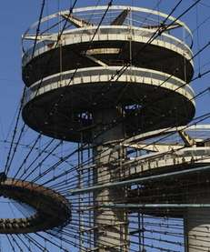The New York State Pavilion was designed by