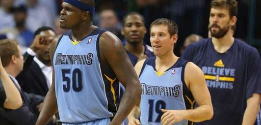 Zach Randolph #50 of the Memphis Grizzlies celebrates