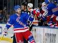 Martin St. Louis celebrates scoring a goal in