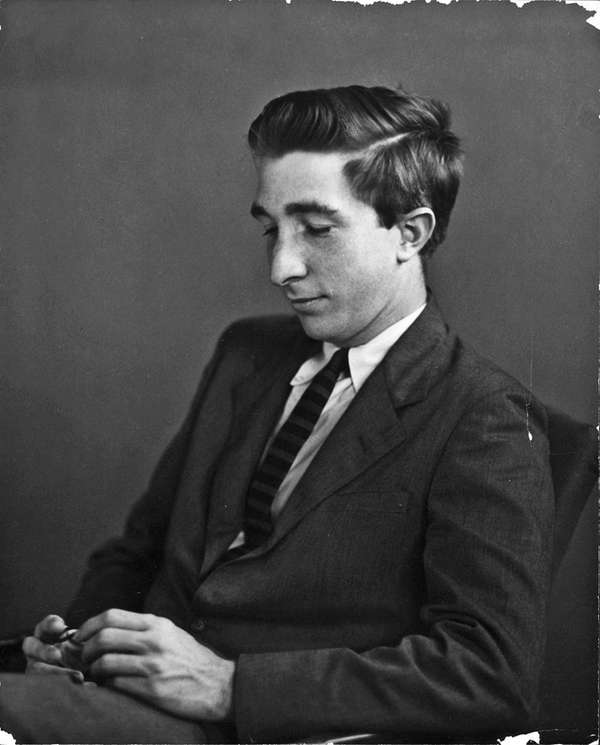John Updike during his undergraduate years; he was