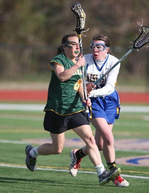 Ward Melville's Mary Brigid Coughlan tries to get