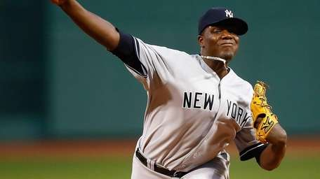 Michael Pineda delivers a pitch against the Boston