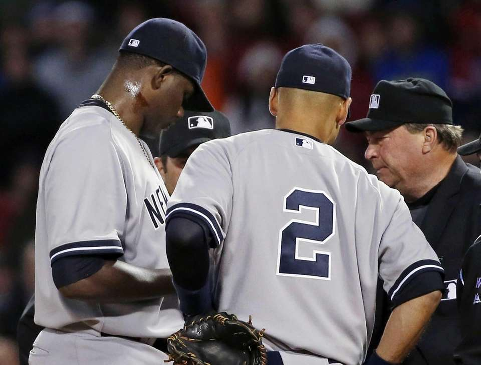 APRIL 23, 2014: MICHAEL PINEDA EJECTED IN 'PINE