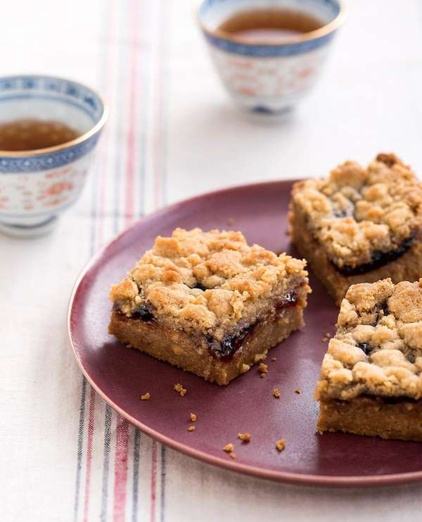 The peanut butter and jam bar recipe can