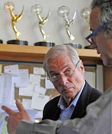 Bob Simon was awarded the Overseas Press Club's