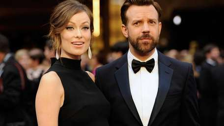 Olivia Wilde, and Jason Sudeikis arrive at the
