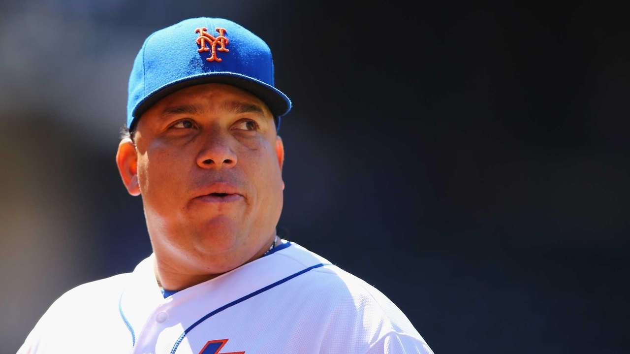 Bartolo Colon of the New York Mets looks