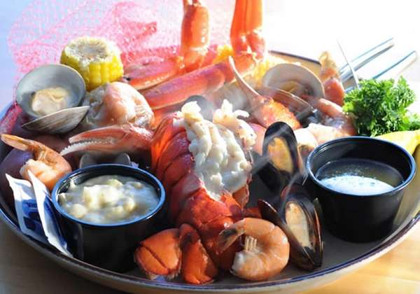 Mixed seafood bake at the new Miller's Ale