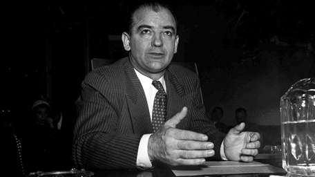 An undated photo of Sen. Joseph McCarthy. In