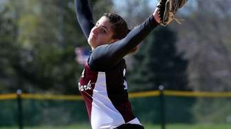 Kings Park starting pitcher Cassandra Cancemi delivers in
